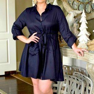 Navy PerfectlyPriscilla Shirtdress Business Casual